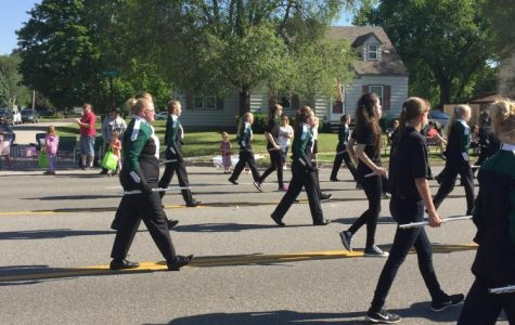 Jenison High School Marching Band performs in Memorial Day parade
