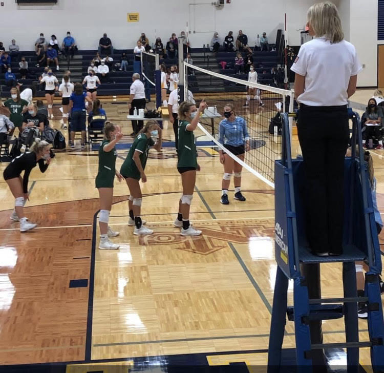 Jenison varsity volleyball during Covid-19