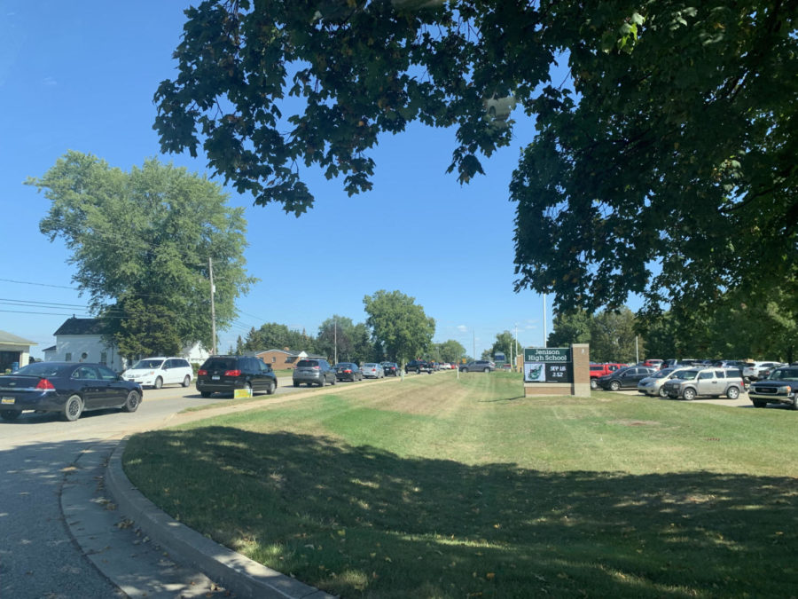 Traffic troubles at Jenison High School
